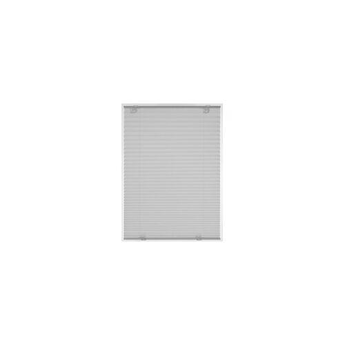 Gardinia Plissee Solo mit Saugnapf grau, 100 x 130 cm