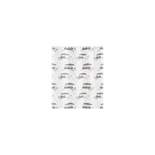 Kleine Wolke Duschvorhang Eulen taupe, 180x200 cm