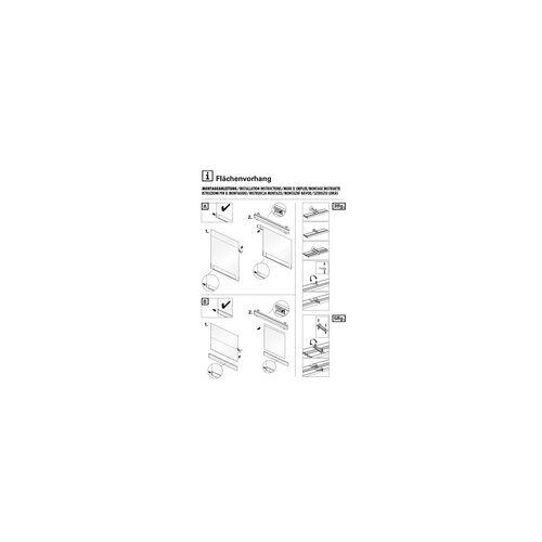 Gardinia Flächenvorhang Flame weiß, 60 x 300 cm