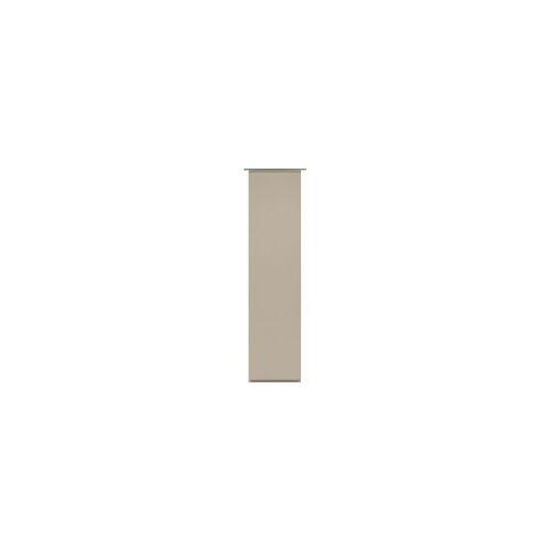 Gardinia Flächenvorhang Uni beige, 60 x 245 cm