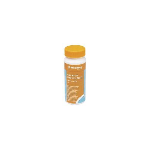 Steinbach Quicktest Streifen für pH-Wert und freies Chlor 50 Stück