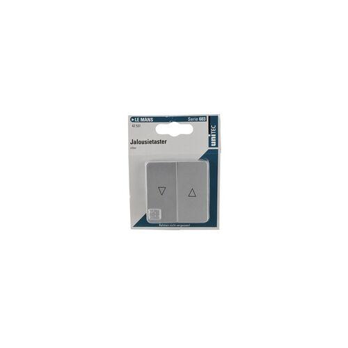 uniTEC Elektro UNITEC Jalousie-Taster LeMans Serie 603 silber