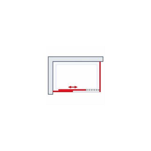 Schulte Komplettkabine Korsika 120 x 80 1200 x 800 x 2240 mm, matt schwarz, Klar hell, Grau