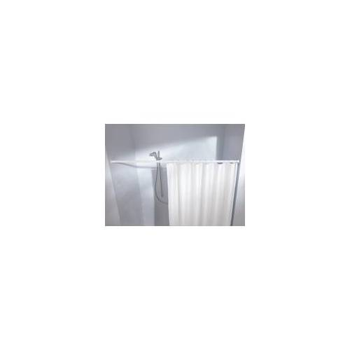 Kleine Wolke Federstange für Duschvorhänge 130 - 250 cm / Ø 2,5 cm / weiß
