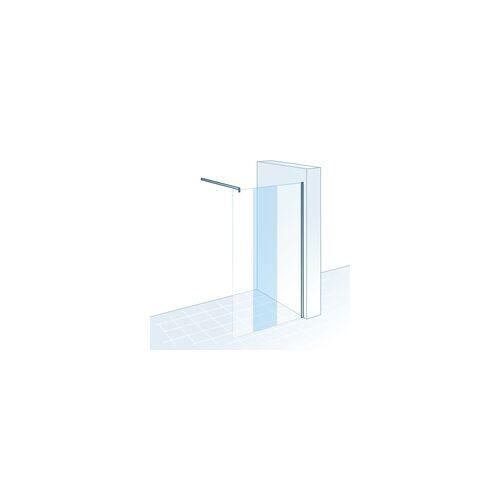 Schulte Duschwand Walk In M8 MasterClass 120 x 200 cm, chrom, Klar hell inkl. fixil-Beschichtung