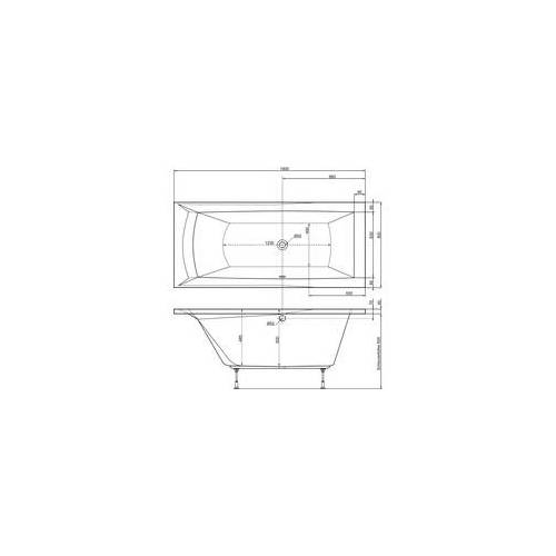 Ottofond Badewanne Porta 180 x 80 cm, weiß