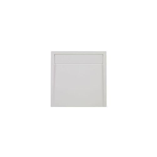 Ottofond Duschwanne mit Ablaufrinne 90 x 90 cm, weiß