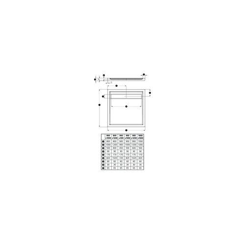 Ottofond Duschwanne Fashion Board 90 x 120 x 3 cm, weiß