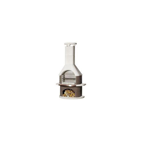 Buschbeck Grillkamin San Remo weiß-braun, 206 x 110 x 65 cm