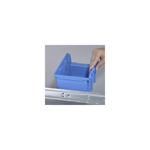 Allit Sichtboxen-Set mit Metallschiene blau