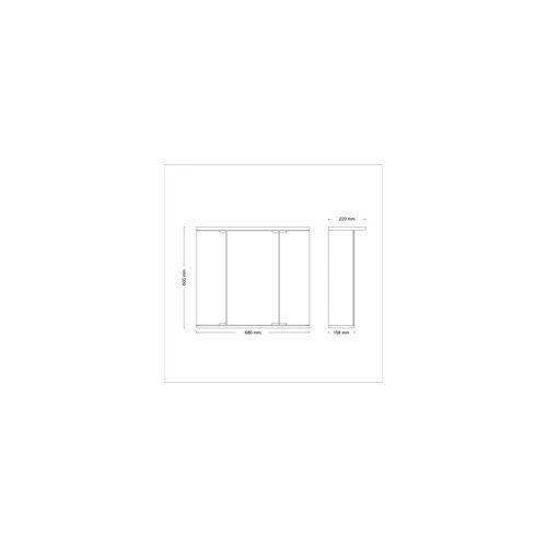 Jokey Spiegelschrank Funa LED weiß, mit Beleuchtung