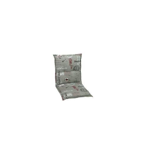 GO-DE Niederlehner-Auflage Maße: 100 x 50 x 7 cm, grau, rot