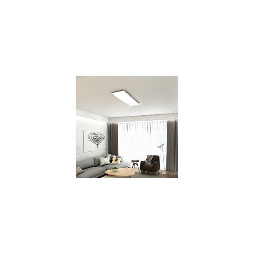Di-Ka LED Deckenleuchte Piatto ultraflach, CCT, 100 x 25 cm, weiß