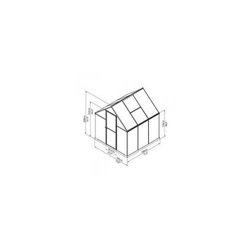 TrendLine Gewächshaus Mythos I 6x6 186 x 185 x 209 cm