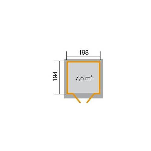 Weka Gartenhaus Ebby Gr.2 Maße: 222 x 237 cm, lasiert