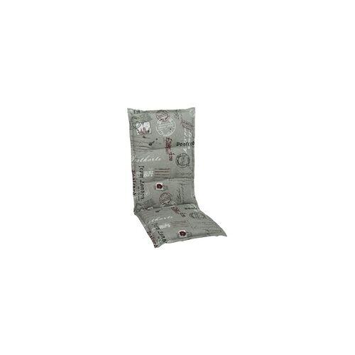 GO-DE Hochlehner-Auflage 120 x 50 x 7 cm, grau, rot
