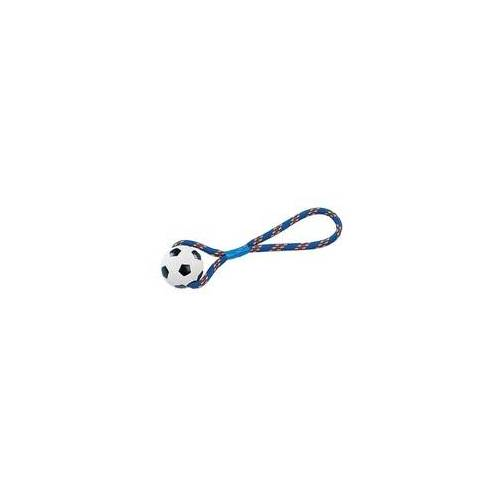 Nobby Vollgummi Ball mit Seil Vollgummi, 8 cm