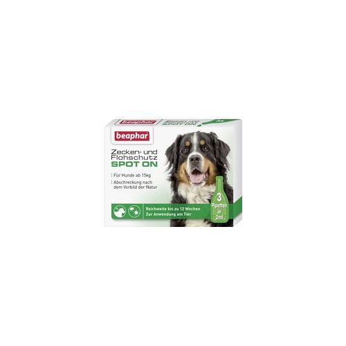 Beaphar Zecken- und Flohschutz SPOT-ON 3 x 2 ml, für große Hunde ab 15 kg