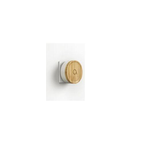 Avidsen Umweltfreundliche Funk-Türklingel Bamboo drahtlose Klingeltaste ohne Batterie Bambus grau