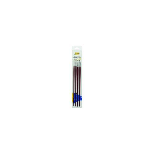 Kreul SOLO GOYA Künstlerpinsel Set Borst-Gusowpinsel für Öl- u. Acrylfarben 4 Pinsel