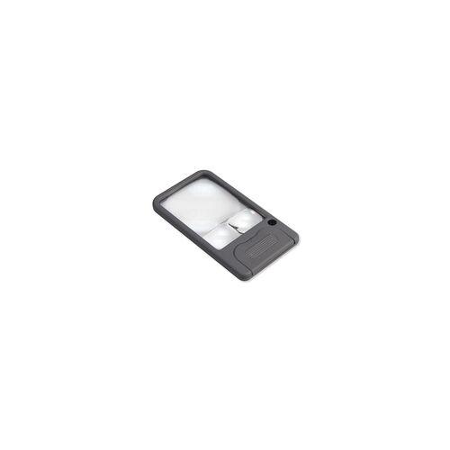 Carson Optical Carson Taschenlupe PM-33 mit LED, 2,5-facher Vergrößerung, 5- und 6-fach Spot