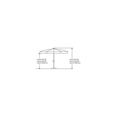 Schneider Schirme Schneider Sonnenschirm Ibiza blau, Ø 240 cm