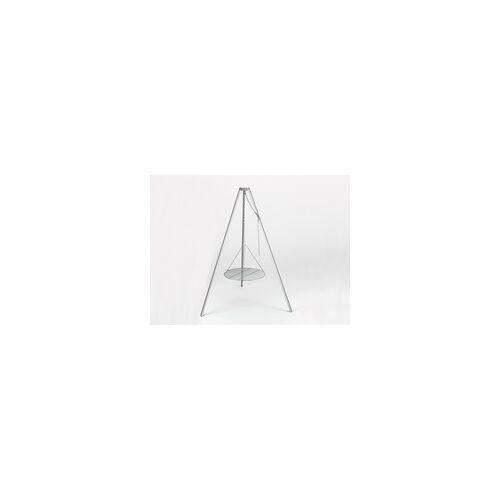 SVENSKAV Dreibein Schwenkgrill für SvenskaV Feuerschalen BxTxH: 130x130x160 cm, komplett aus Edelstahl, inkl. Kette mit Haken