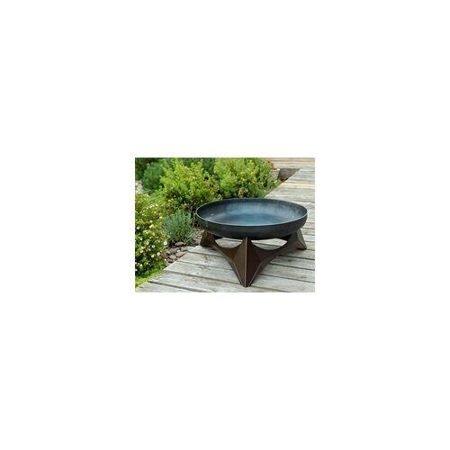 SVENSKAV Design Feuerschale ARKA L Unterbau kupfer BxTxH: 45x45x25 cm, Schale aus 3,2 mm Rohstahl