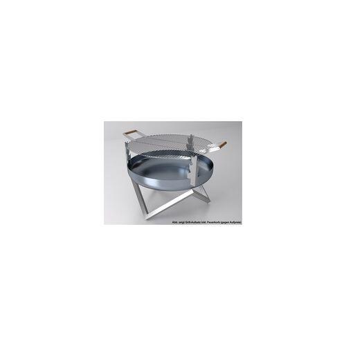 SVENSKAV Grill-Aufsatz für Feuerschalen 45 cm Durchmesser: 45 cm, Edelstahl, hözerne Griffe