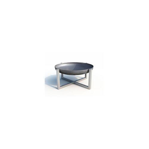SVENSKAV Design Feuerschale CROSS XXL Edelstahl BxTxH: 63x63x35 cm, 3,2 mm stark
