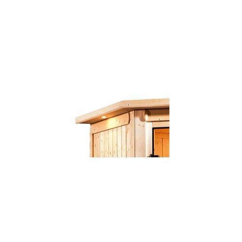 KARIBU Dachkranz für Sauna Beri inkl. 3 Strahlern á 7,5 Watt LED Lampen