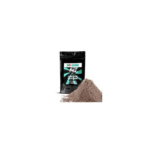 NO GUNK Lava Clay Face Mask -  Vegan - Ghassoul/Rhassoul Clay - 200 g