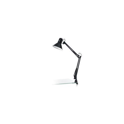EGLO FIRMO Schreibtischleuchte, Klemmleuchte, E27 schwarz glänzend