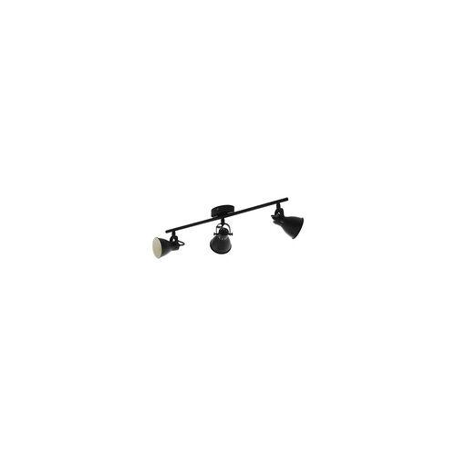 EGLO SERAS 2 LED Retro Deckenstrahler schwarz 3x GU10 59,5x6,5cm