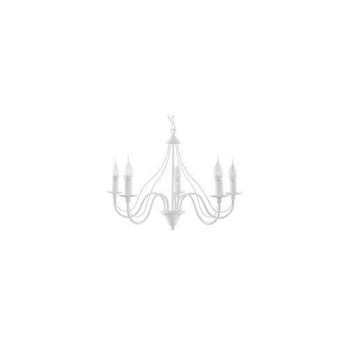 Sollux MINERWA Kronleuchter weiss 5-flg. E14