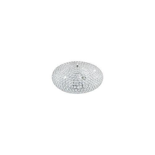 EGLO CLEMENTE Kristall Deckenleuchte Ø450, 3-flg., E27, chrom, klar