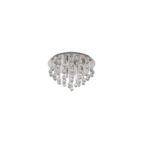 EGLO ALMONTE LED Deckenleuchte Kristall chrom 8xG9