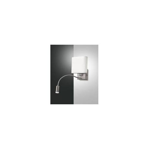 Fabas Luce LED Wandleuchte mit Leselampe nickel satin Fabas Luce Vietri 990lm