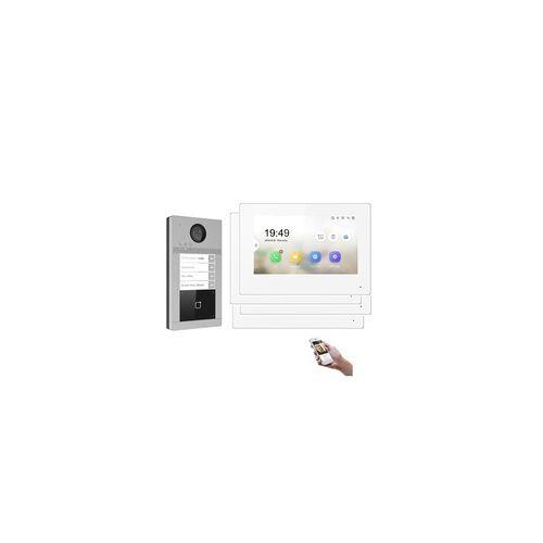 Mathfel WLAN IP Türsprechanlage für 4-Familienhaus mit RFID und HD Kamera - ohne Kamera