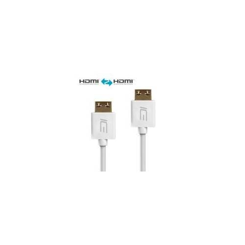 ICE Cable - HDMI Kabel S2 Serie - Installationskabel -  Weiß - 3,00m - ICE-HDMI-S2-030 3,00m - ICE-HDMI-S2-030