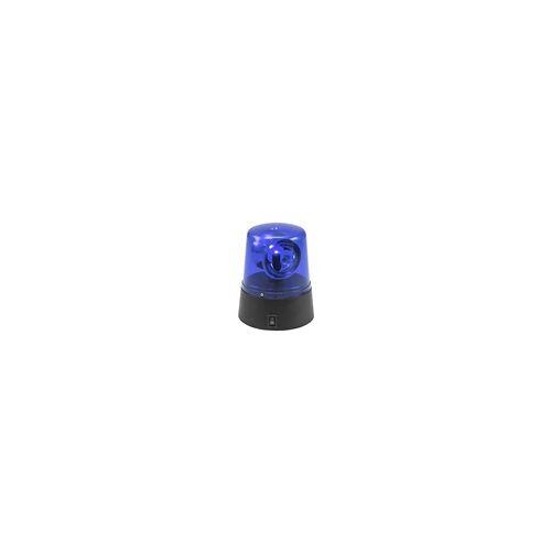 EuroLite LED Mini Polizeilicht blau Rundumleuchte USB/Batterie