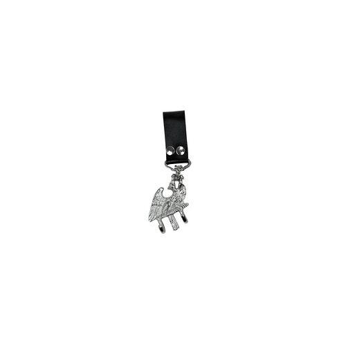 Bold 0233 Tragadler groß schwarze Schlaufe, vernickelt
