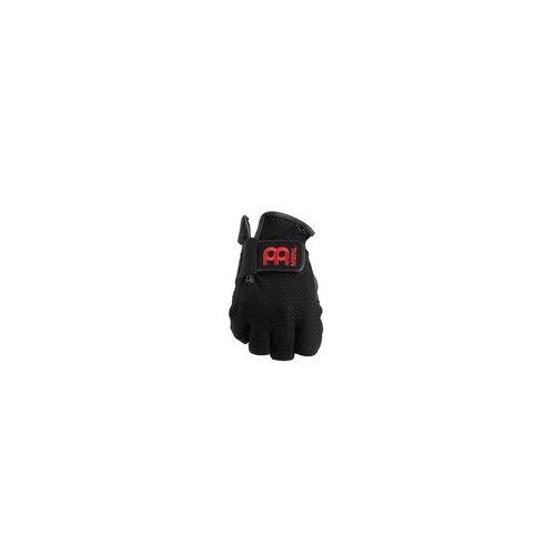 Meinl MDGFL-XL Drummer Handschuhe Fingerlos Schwarz, Größe XL