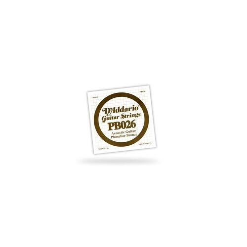 DAddario PB026 Einzelsaite - 026 Acoustic / Western Gitarre