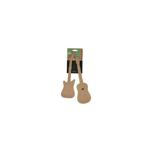 Geschenkartikel Salatbesteck Gitarren Buchenholz