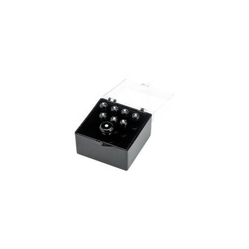 Fender Bridge Pins Akustikgitarre Black / White Dots