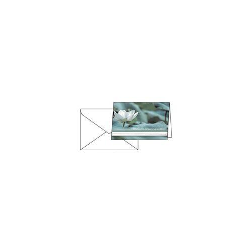 Sigel 10-Pack Trauerkarte »Water Lily«, Sigel, 17x11.5 cm