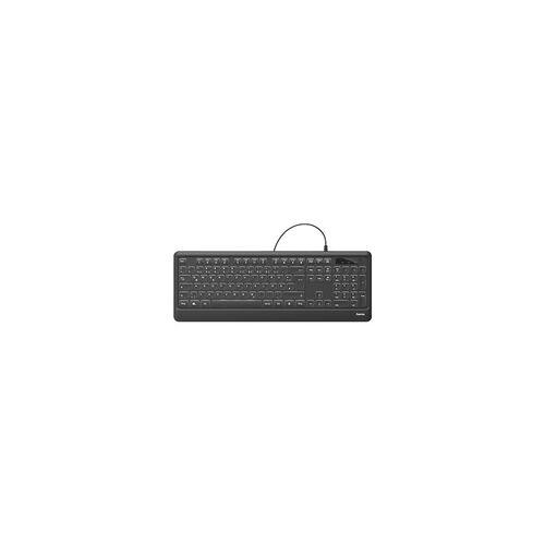 Hama Beleuchtete Tastatur »KC-550« schwarz, Hama