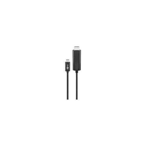 Goobay Adapterkabel USB-C™ auf HMDI »4k60Hz« schwarz, goobay