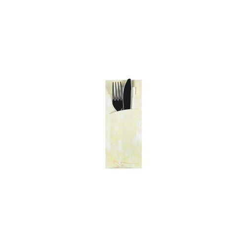 Papstar Bestecktaschen 8,5 x 20 cm mit Serviette, 520 Stück weiß, Papstar